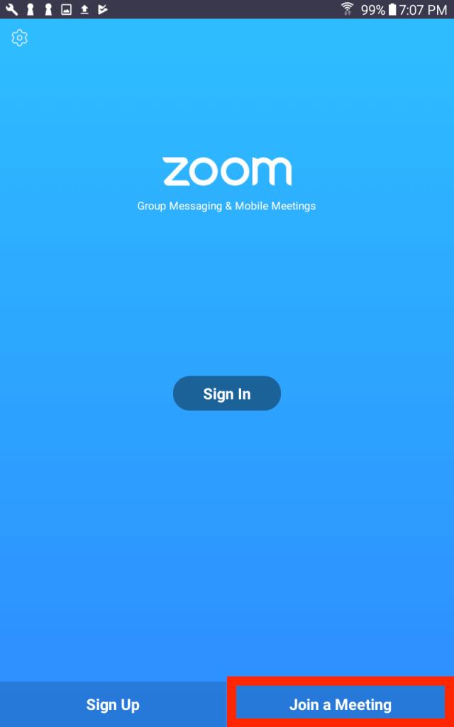 Вход в ZOOM-конференцию Android